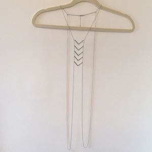 Body chain necklace silver